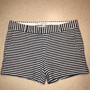 Banana Republic Navy/Cream Striped Shorts 12